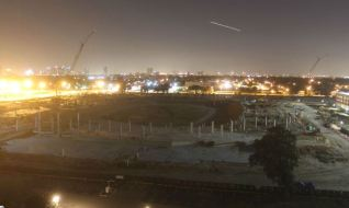 Nighttime view of the new Houston Cougars Stadium