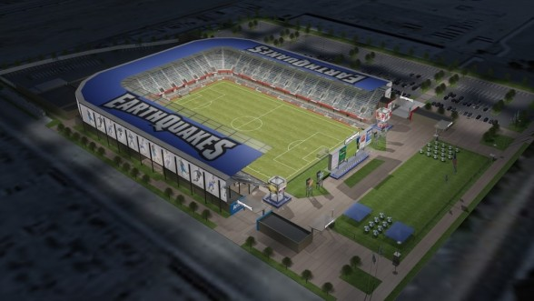 The new MLS San Jose Earthquakes stadium opens in 2014