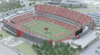 Illustration of the University of Houston's new stadium opening for the 2014 season