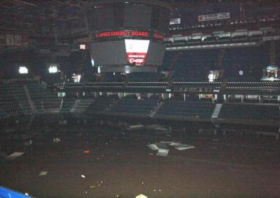 Saddledome photo damage