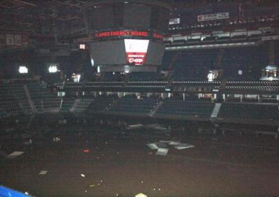Saddledome photo damage
